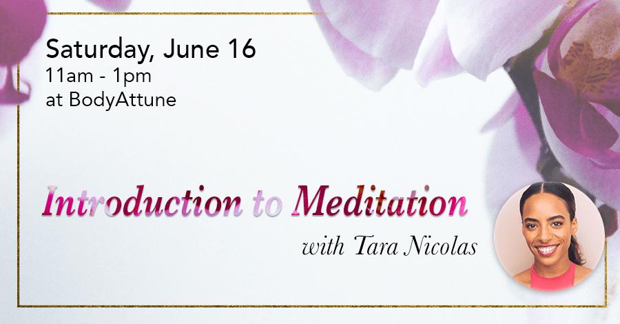Introduction to Meditation with Tara Nicolas