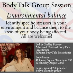 BodyTalk Group Session - Environmental Balance @ BodyAttune | New York | New York | United States